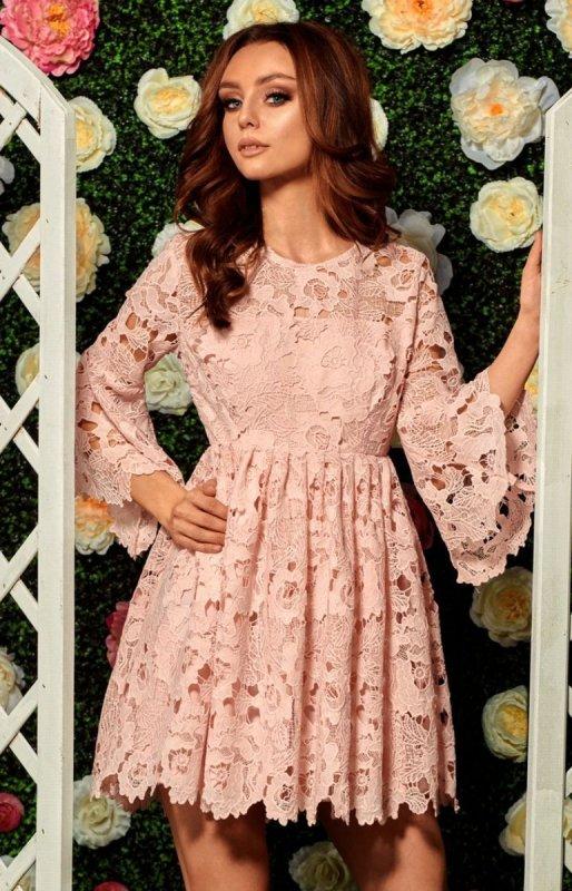 c52f648070 Lemoniade L262 sukienka pudrowy róż - Sukienki na wesela i imprezy -  Koronkowe sukienki - MODA DAMSKA - Sklep internetowy Intimiti.pl