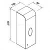Automatyczny dozownik mydła w płynie i środków dezynfekcyjnych 1 l LAB S1000ASPB wymiary