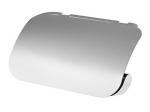 Chromowany uchwyt WC z klapką Bisk Natura 04313 metalowy na papier toaletowy w rolce