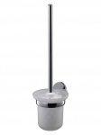 Zawieszana szczotka WC Bisk Emotion 03103 z metalu i mrożonego szkła