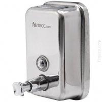 Dozownik (dystrybutor) mydła w płynie Faneco Duo (S1000SB-P) 1 litr kwasoodporny ze stali nierdzewnej