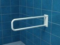 Poręcz stała łukowa dla niepełnosprawnych UR7s 70 cm stal węglowa emaliowana