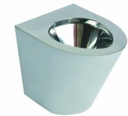 Miska WC Faneco N13012.S stojąca ze stali nierdzewnej