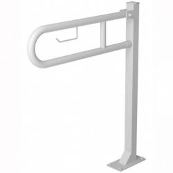 Poręcz przysedesowa uchylna dla niepełnosprawnych Faneco S32UUWCW7P SW B 70 cm stal węglowa emaliowana