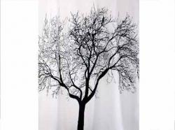 Zasłona prysznicowa tekstylna Bisk TREE 04440