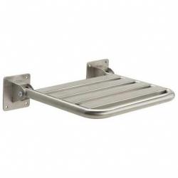 Siedzisko prysznicowe uchylne dla niepełnosprawnych Faneco SKPU-2 SN M 40x48 cm stal nierdzewna