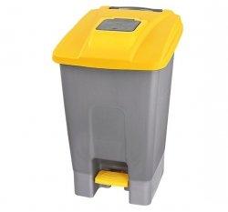 Kosz na śmieci plastikowy KP100-Ż 100 L Linea Trade