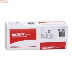 Ręczniki papierowe ZZ w listkach Katrin Classic 36180 230 x 232 mm 2-warstwowe białe