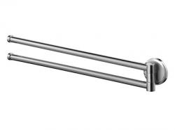 Dwuramienny ruchomy wieszak kąpielowy Bisk Sensation 03088 metalowy