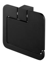 Uchwyt WC z klapką Bisk Futura Black 02961 na papier toaletowy w rolce