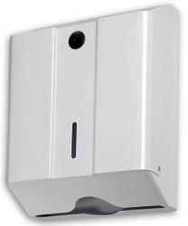 Pojemnik (podajnik) Faneco ZZ Med (LCP0105) na ręczniki papierowe w listkach, ścienny, metalowy