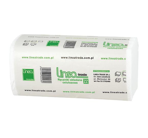 Ręczniki papierowe ZZ w listkach LINEA ZZ 3000 250 x 230 mm 2-warstwowe białe