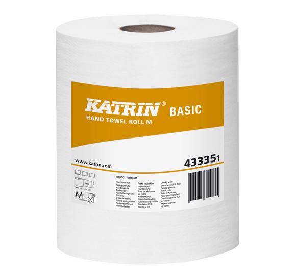 Ręczniki papierowe w roli maxi Katrin Basic M Bis 43335 Ø 190 mm 1-warstwowe białe