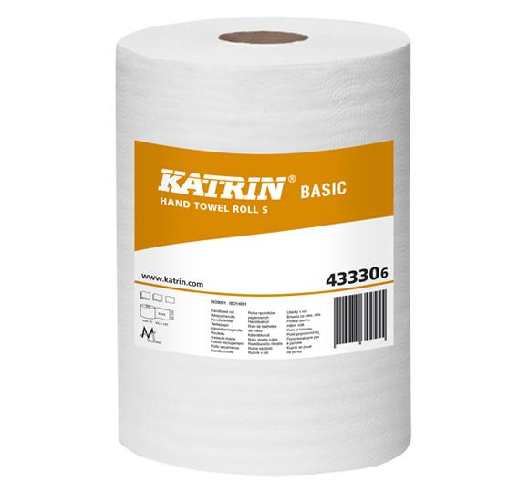 Ręczniki papierowe w roli mini Katrin Basic S Bis 43330 Ø 140 mm 1-warstwowe białe