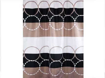 Zasłona prysznicowa tekstylna Bisk CIRCLE 04438