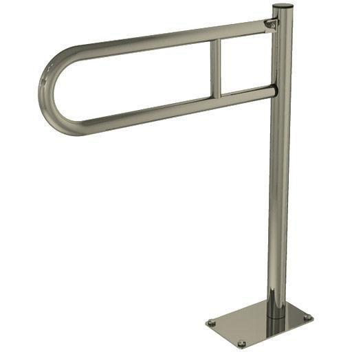 Poręcz przysedesowa stała dla niepełnosprawnych Faneco S32UUWCW6 SN P 60 cm stal nierdzewna