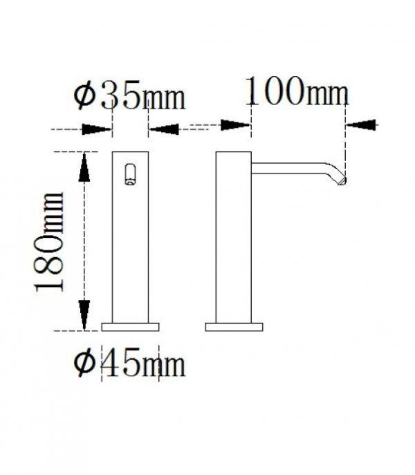 dozownik-na-mydło-w-płynie-automatyczny-impeco-prestige-H702-wymiary