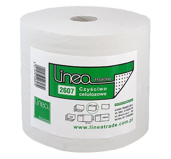 Czyściwo uniwersalne Linea Trade 2607 papierowe białe 2 rolki