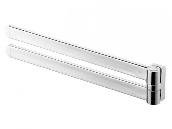 Metalowy wieszak dwuramienny Bisk Futura Silver 02995 chromowany
