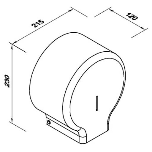 Faneco-pojemnik-jummbo-na-papier-toaeltowy-czarny-J18POB-wymiary
