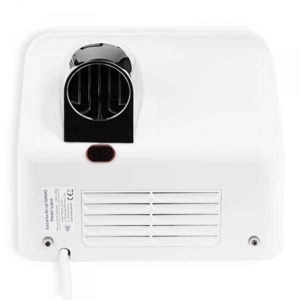 Sanjo automatyczna suszarka do rąk z ruchomą dyszą LUPUS 2500 biała ABS
