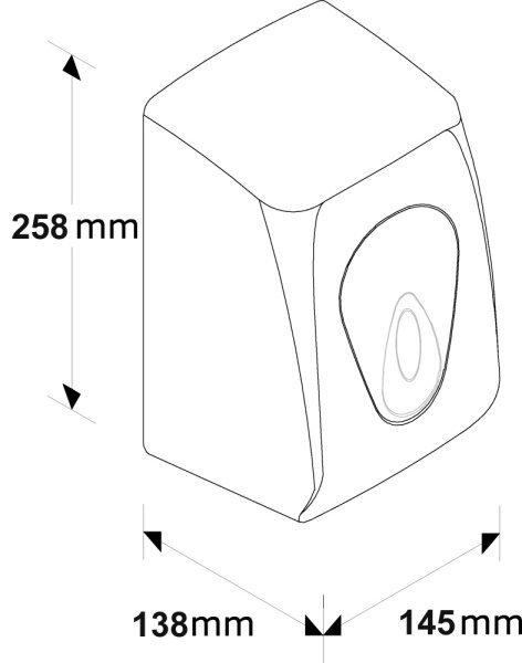 Automatyczna suszarka do rąk Merida Top M55T 1100W ABS