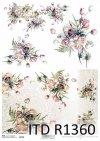 Papier decoupage ryżowy wiosenne kwiaty, bukiety*Decoupage paper rice spring flowers, bouquets