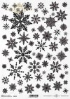 Estrellas de papel de arroz, copos de nieve*Reispapiersterne, Schneeflocken*Звезды рисовой бумаги, снежинки