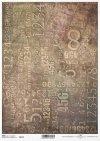Papier Decoupagepapier Hintergrund, Zahlen*Papír Decoupage pozadí, čísla*Paper decoupage background, digits