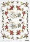 Christmas, winter, snow, Bethlehem star, holly, R446