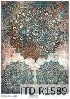 Do-decoupage-Papier-ryzowy-decoupage-R1589--wzor-tapetowo-dywanowy-idealny-jako-Mandala-w-pieknych-turkusach-z-rdzawymi-przetarciami-2