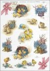 Easter, chickens, flowers, spring, eggs, Easter eggs, R289