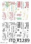 Papier decoupage z napisami wesołych świąt*Merry Christmas*Feliz Navidad*С Рождеством Христовым*Frohe Weihnachten