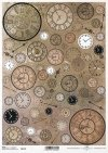 Papierservietten Uhren*Paper Decoupage hodiny*Relojes de papel decoupage