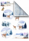 Papiery do scrapbookingu w zestawach - zimowe zwierzęta*Papiere für das Scrapbooking in den Sätzen - Wintertiere