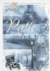 Paris, cities, background, inscriptions, foggy, morning, Eiffel Tower, bridge, historic car