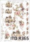 vintage, retro, kobieta, kobiety, sukienka, kwiaty, róża, róże, dekoracje kwiatowe, ornamenty, romantyzm, R365
