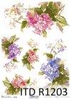 Papier ryżowy kwiaty, Hortensja*Rice paper flowers, hydrangea