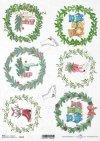 Navidad, coronas festivas, adornos para adornos, ositos de peluche, patines*Weihnachten, festliche Kränze, Motive für Kugeln, Teddybären, Schlittschuhe*Рождество, праздничные венки, мотивы для блесна, плюшевые мишки, коньки