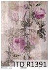 papier decoupage kwiaty, róże na deskach*paper decoupage flowers, roses on boards