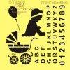 ST0008 - Alfabet, dziewczynka, wózek