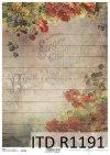 papier decoupage kwiaty, Maki, jeżyny*Paper decoupage flowers, poppies, blackberries