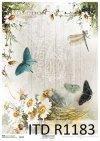 papier decoupage Vintage, kwiaty, motyle*Vintage papel decoupage, flores, mariposas
