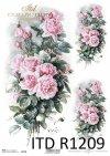 Vintage-kwiaty-różowe-róże-bukiety-różane-papier-decoupage-ryżowy-R1209-roses