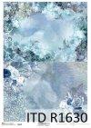 Papel de arroz - Navidad en azul 2*Reispapier - Weihnachten in blau 2*Рисовая бумага - Рождество в синем 2