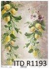 papier decoupage Vintage, cytryny*Vintage decoupage paper, lemons