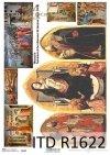 Reispapier mit Ikonen, religiöse Bilder - Masaccio*Reispapier mit Ikonen, religiöse Bilder - Masaccio*Рисовая бумага с иконами, религиозные изображения - Масаччо