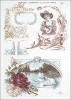 woman, flower, flower ornaments, Passe partout, R346