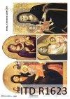 Papel de arroz con iconos - Madonna y niño*Reispapier mit Ikonen - Madonna und Kind*Рисовая бумага с иконами - Мадонна с младенцем