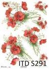 Papier decoupage Soft Kwiaty, Maki*Decoupage paper flowers, Poppies